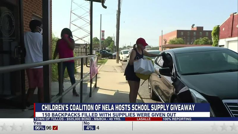 The Children's Coalition for Northeast Louisiana hosted its annual school supply giveaway...
