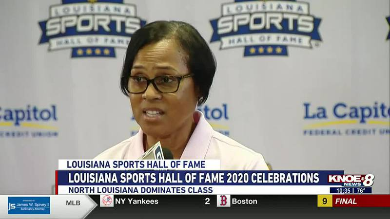 Former Lady Techster Angela Turner is inducted into the Louisiana Sports Hall of Fame.