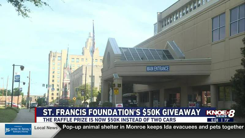 The St. Francis Foundation's annual raffle prize is now $50K! Proceeds from ticket sales go...