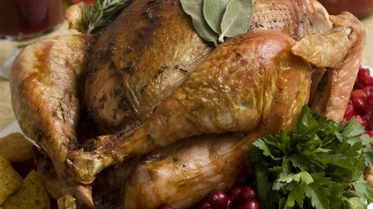 FILE - This Nov. 2, 2009, file photo shows a Thanksgiving turkey in Concord, N.H. Food safety...