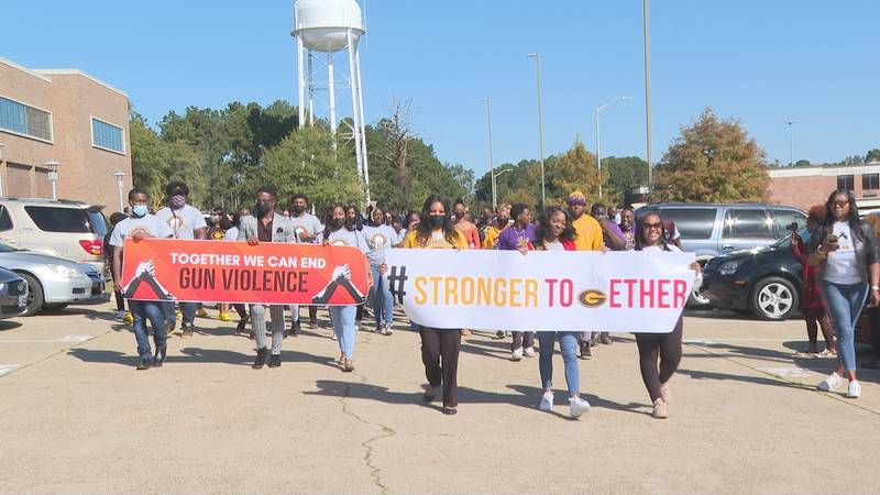 Three hundred people rallied together on the Grambling State University campus Friday morning...