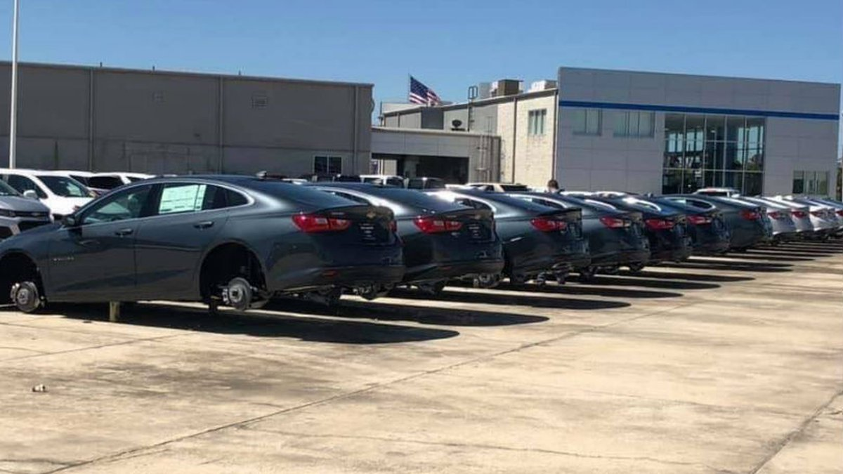 More than $120,000 worth of tires and rims were stolen in April off vehicles at Matt Bowers...