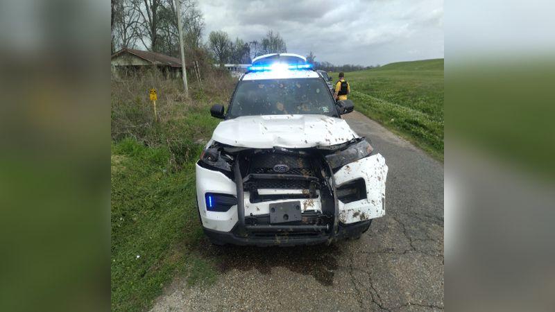 Oak Grove Police unit heavily damaged in vehicle pursuit