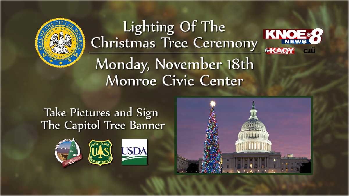 The tree lighting ceremony will be on Nov. 18 from 5 p.m. to 7 p.m. at the Monroe Civic Center.