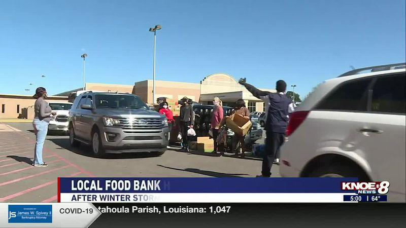Food bank serves residents after winter storm delays food delivery trucks