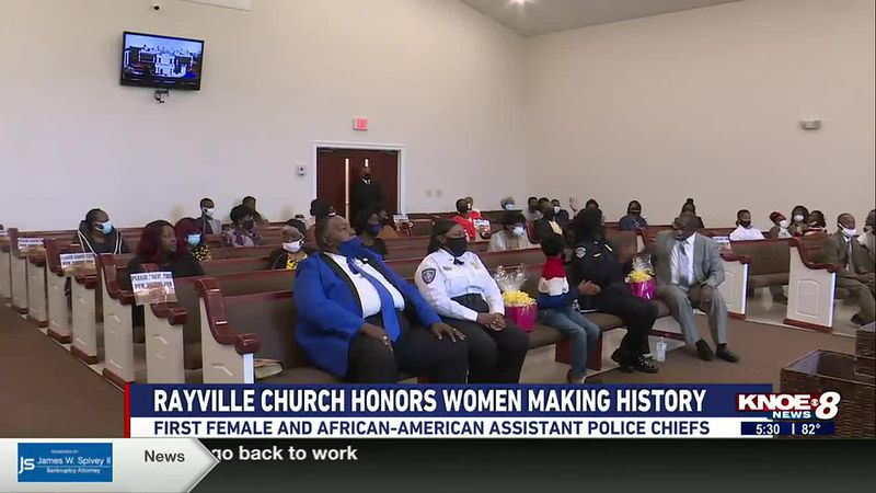 Greater New Beginnings Christian Church Pastor gave them gifts and plaques to show his...