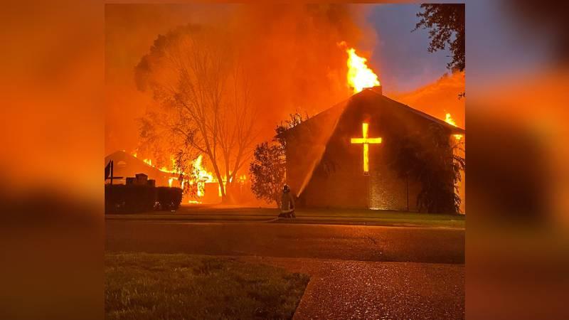 Vidalia church fire