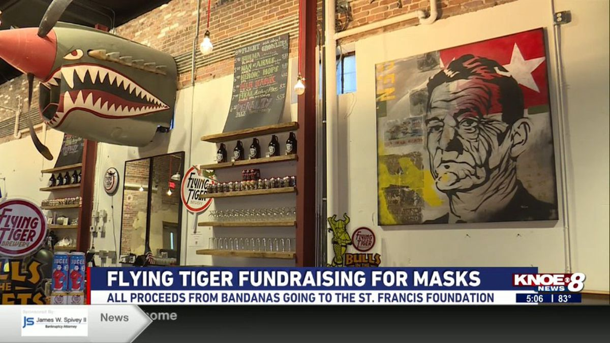 Flying Tiger Brewery is raising money for the St. Francis Foundation to buy masks for healthcare workers.