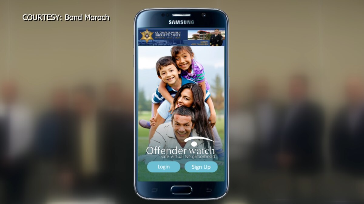 A new app is partnering with local sheriff offices to keep kids safe from registered sex offenders. Source: (Bond Moroch)