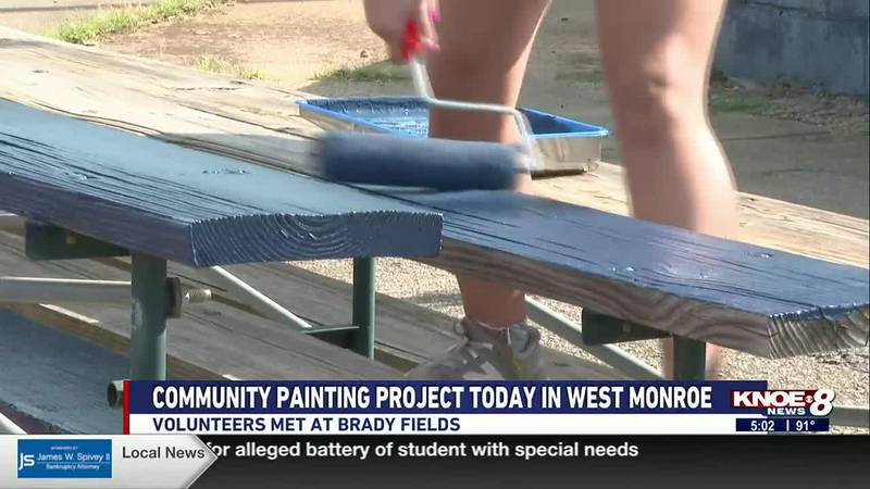 A community painting project was held in West Monroe on Tuesday, July 13.