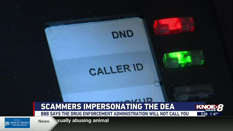 The Drug Enforcement Administration is warning people that scammers are impersonating the...