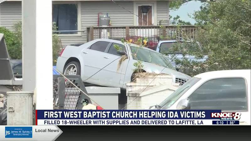 Damage from Hurricane Ida in Lafitte, La.