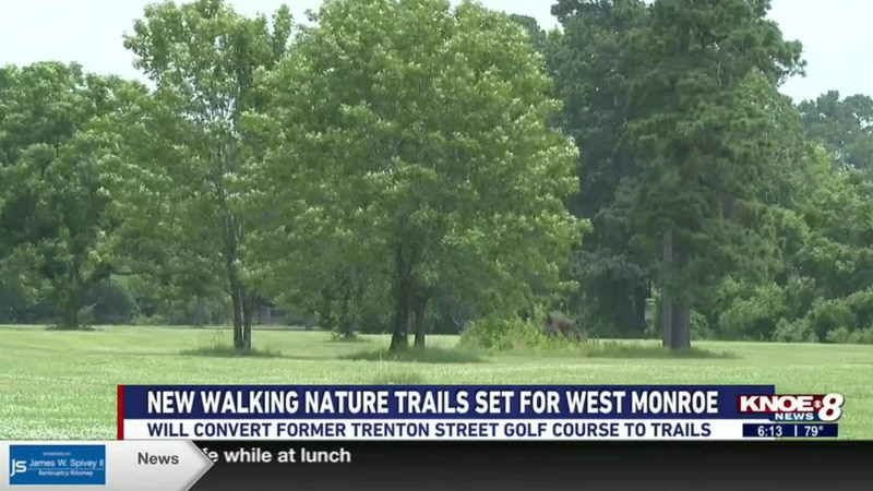 The project will convert the former Trenton Street golf course into trails.