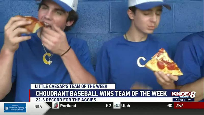 Choudrant baseball wins Little Caesar's Team of the Week. The Aggies are now ranked first in...