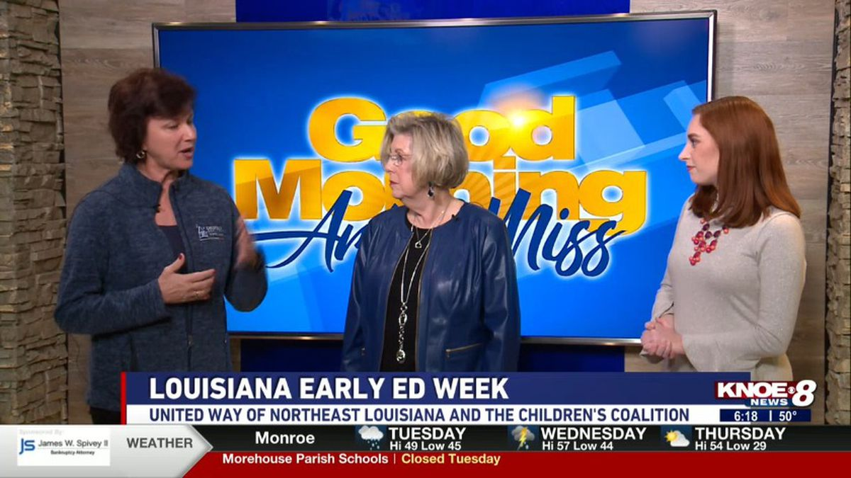 Lynn Clark and Janet Durden joined with Jessica discussing Louisiana Early Education Week.<br />Source: (KNOE)