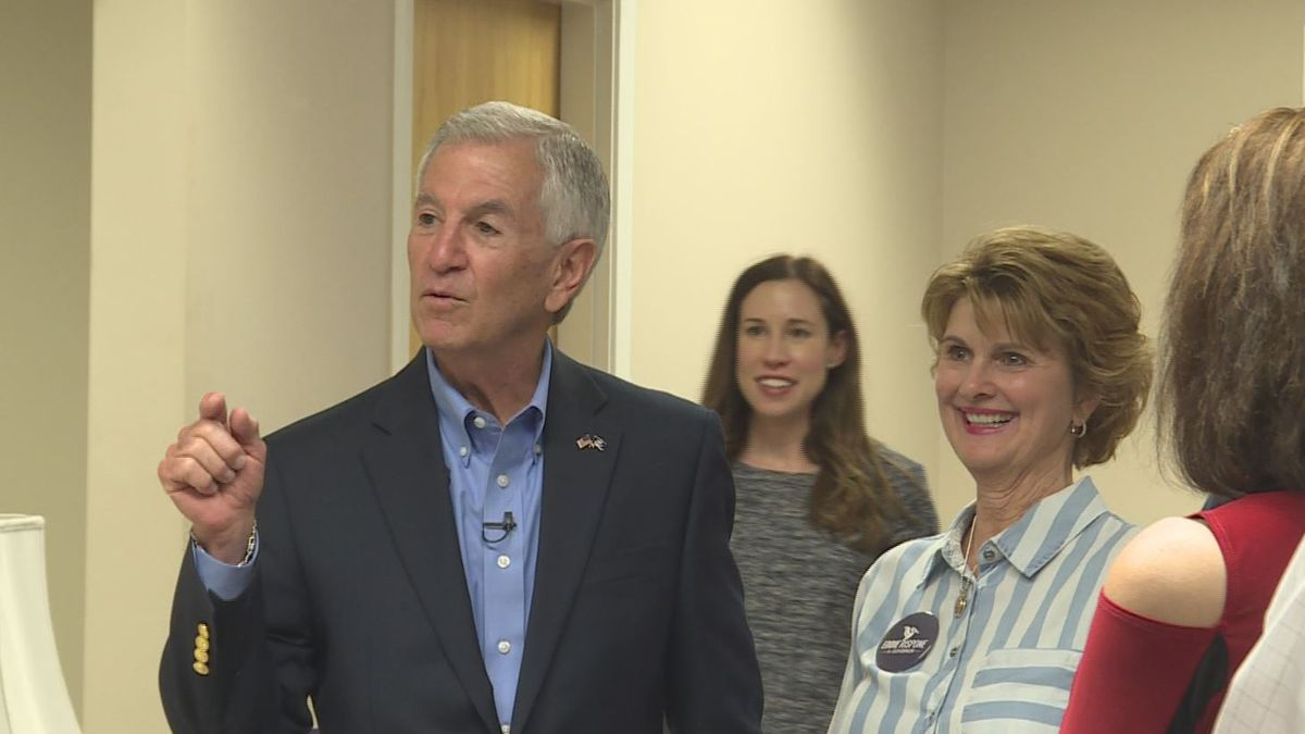 Gubernatorial candidate Eddie Rispone visited Monroe Friday to meet with voters. Source: (KNOE)