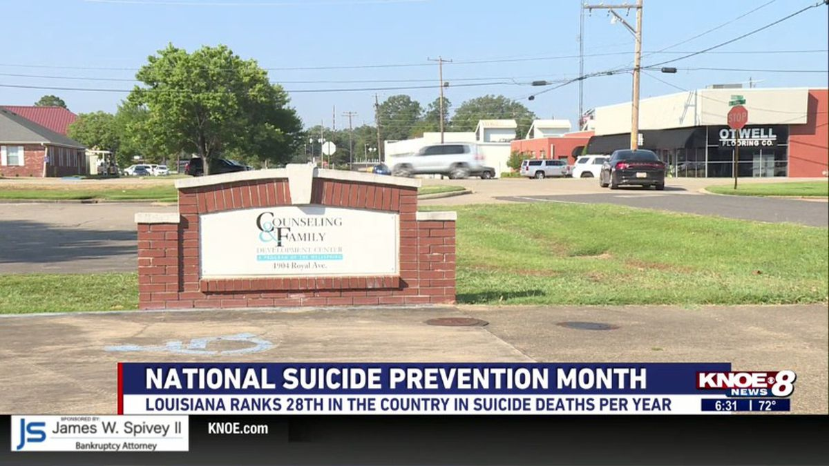 September is National Suicide Prevention month and counselors say it's on the community to make...