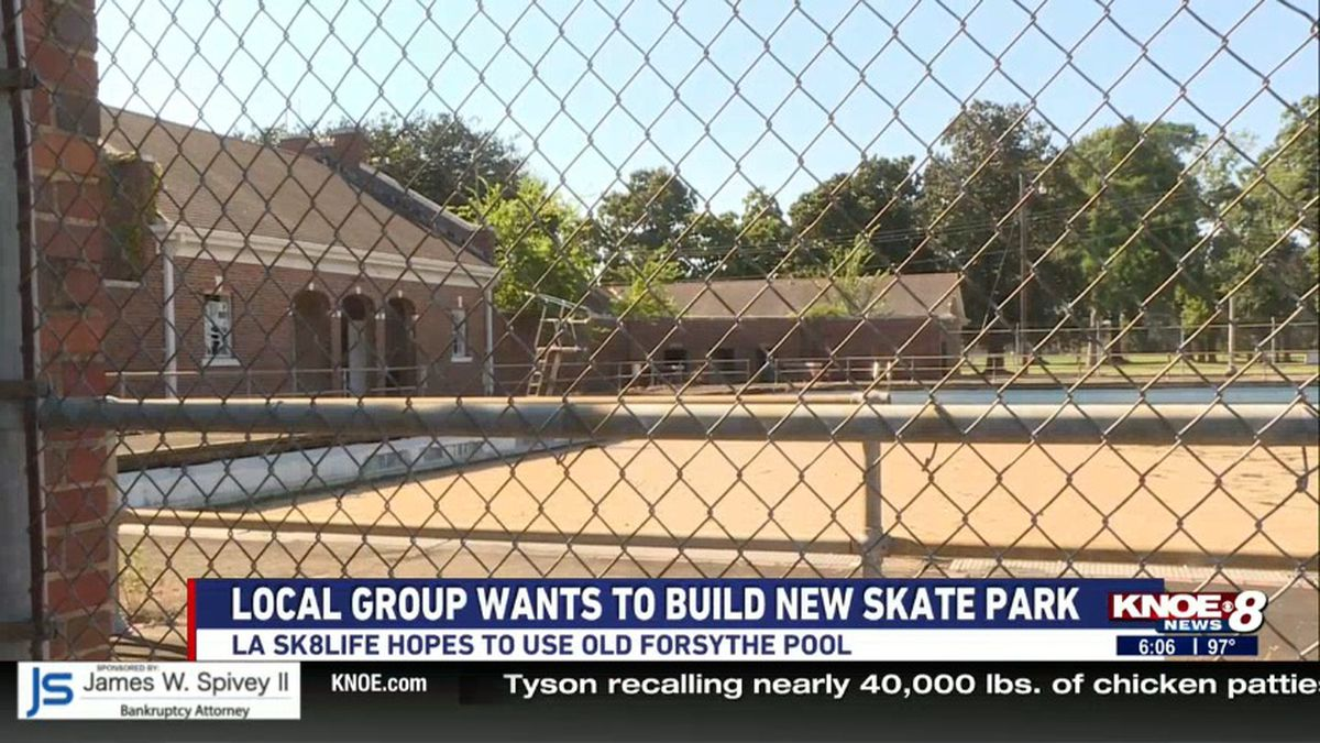 LA Sk8Life Society wants to use the old Forsythe Park pool to build a new skate park in Monroe. (Source: KNOE)