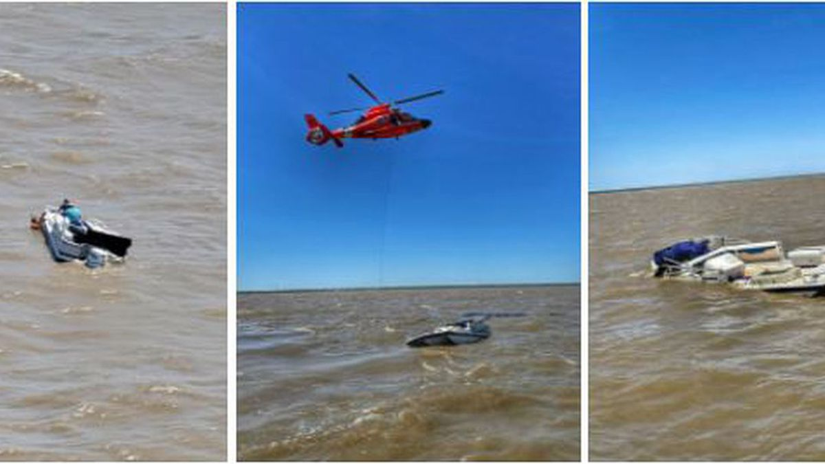 The Coast Guard medevaced two mariners Thursday from a vessel taking on water near Lake...