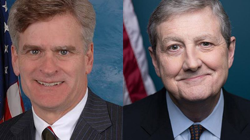 Louisiana Senators Bill Cassidy and John Kennedy.