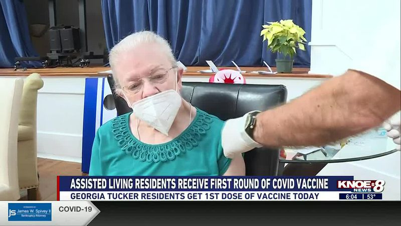georgia tucker residents get vaccine today