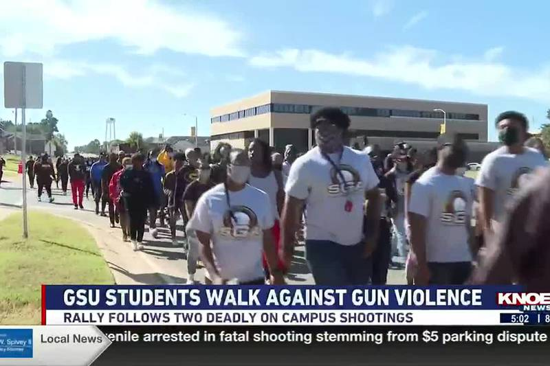GSU Students rally with the community to end gun violence.