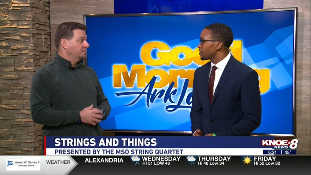 "Executive Director Craig West from Monroe Symphony Orchestra joined with Tyler Smith discussing ""Strings and Things."" Source: (KNOE)"
