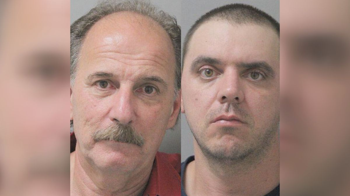 57-year-old Matthew W. Hutson and 36-year-old Theodore Christopher Herr were arrested and charged for Tuesday's incident at West Monroe High School.