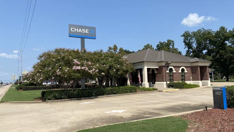 Chase Bank in Monroe on U.S. Highway 165