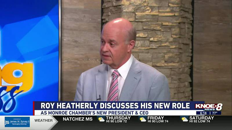 The new President & CEO of the Monroe Chamber of Commerce joined us in the studio this morning...