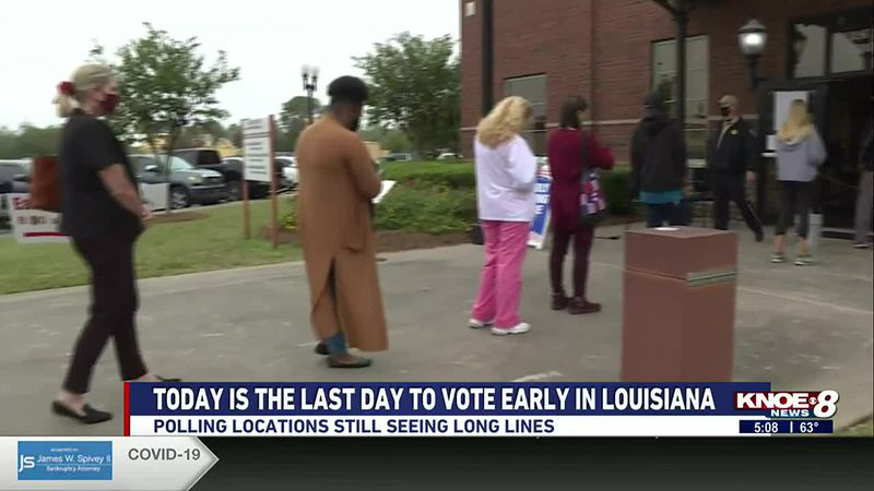 LOUISIANA  RESIDENTS EXPERIENCE LAST DAY OF EARLY VOTING