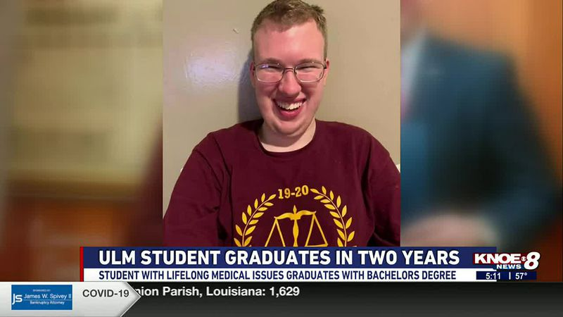 STUDENT WITH LIFELONG MEDICAL ISSUES GRADUATES IN TWO YEARS