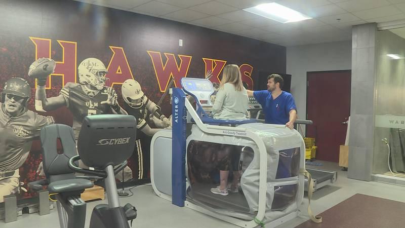 ULM's Anti-Gravity Treadmill has helped a woman walk again