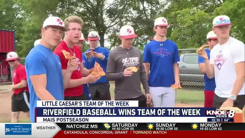 Riverfield baseball wins Little Caesar's Team of the Week and advances to the second round of...