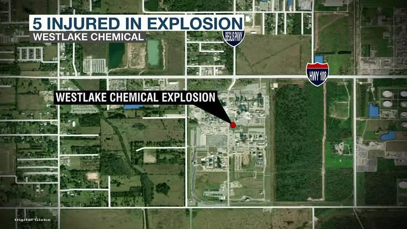 Five injured in explosion at Westlake Chemical