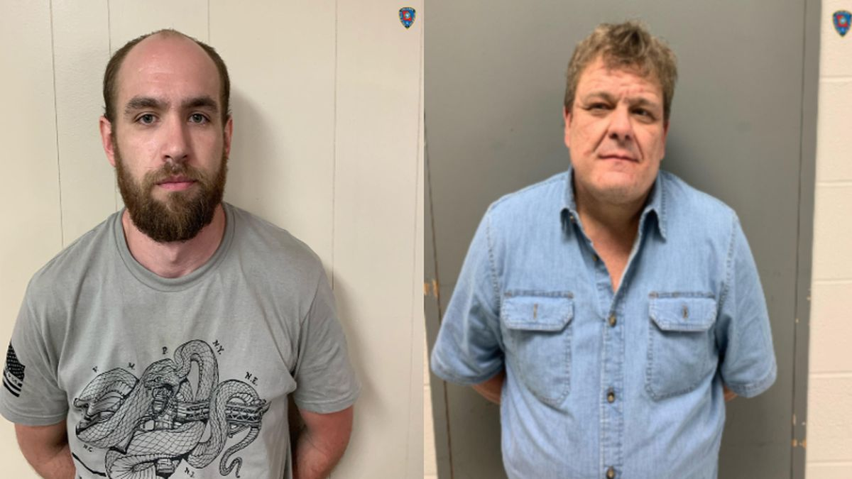 Austin Triplet, 28, and James Maxwell, 52, both of Crossett, Ark., were booked into the Jackson...