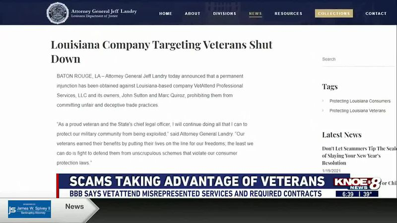 BBB warning veterans to be cautious when signing up for services