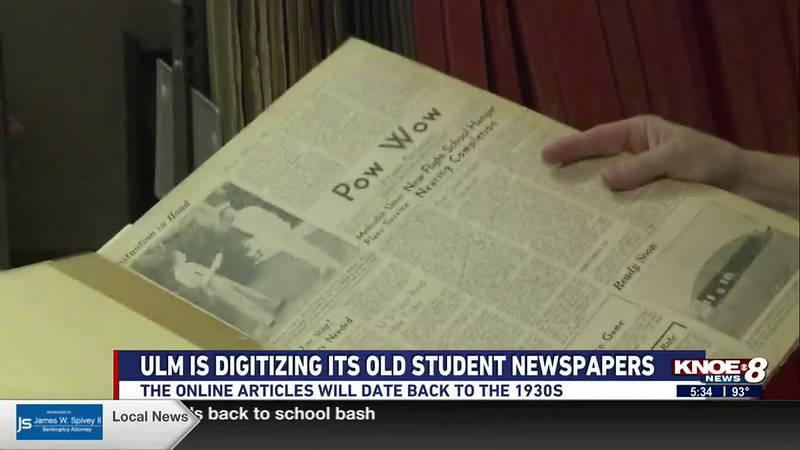 ULM digitizes old student newspaper