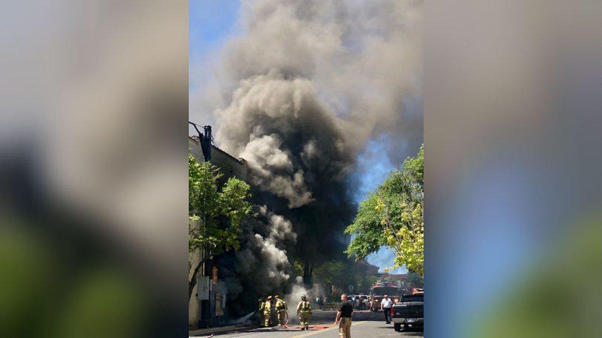 According to El Dorado PD, an underground transformer exploded, causing a fire Thursday...