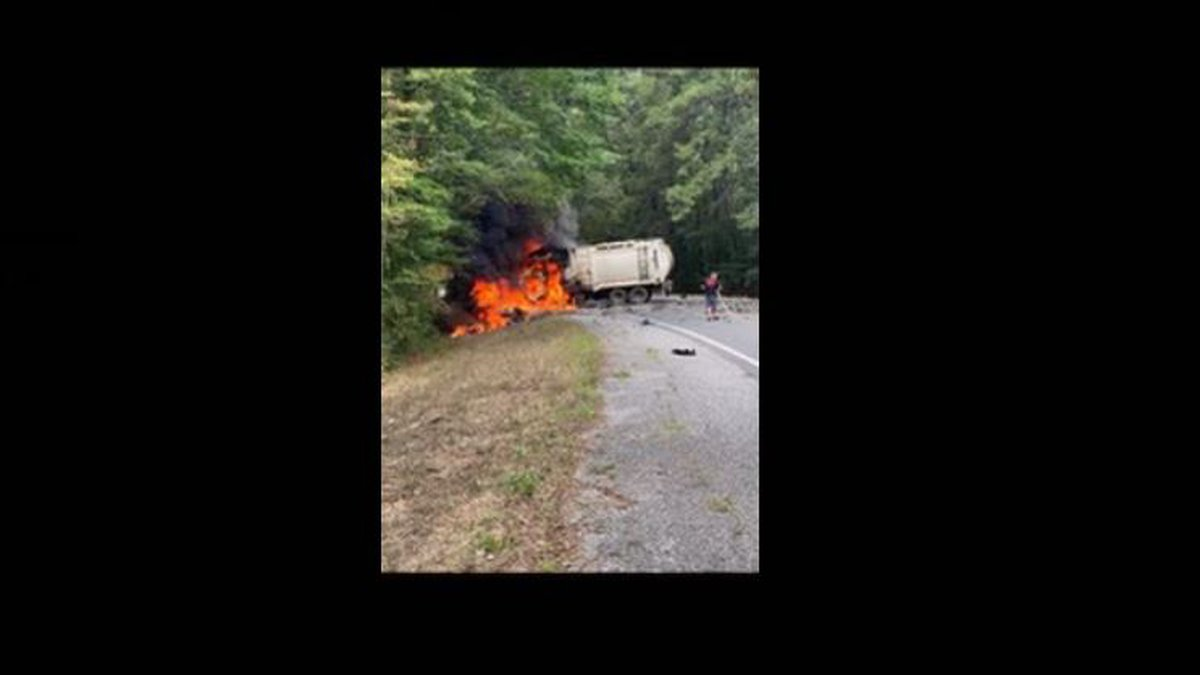 One person died after a vehicle hit a garbage truck on Hwy 71.