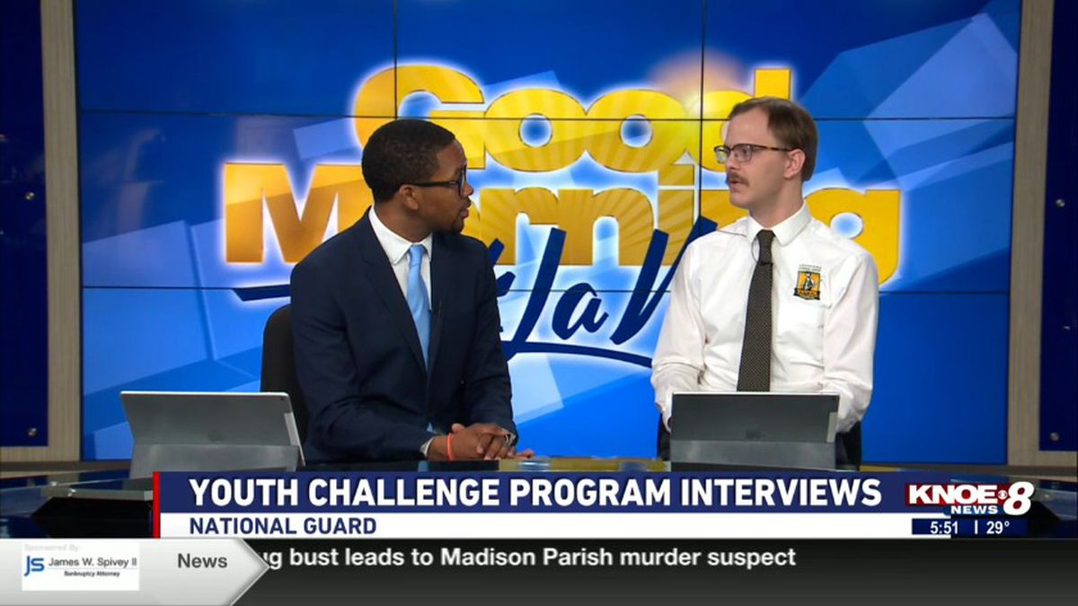 Stephen Hurley, director of public relations and recruiting for the National Guard joined with Tyler Smith discussing the Youth Challenge Progam. Source: (KNOE)