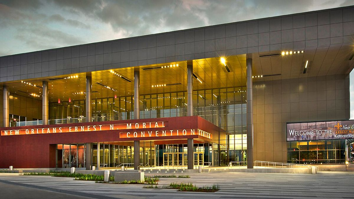 The Morial Convention Center in New Orleans.