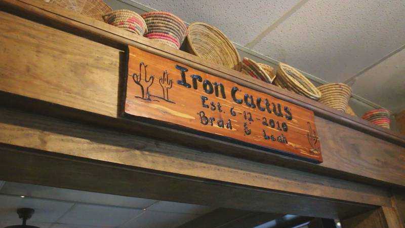 In Calhoun off US-80, tucked in a strip mall, sits the Iron Cactus. The sign noting when the...