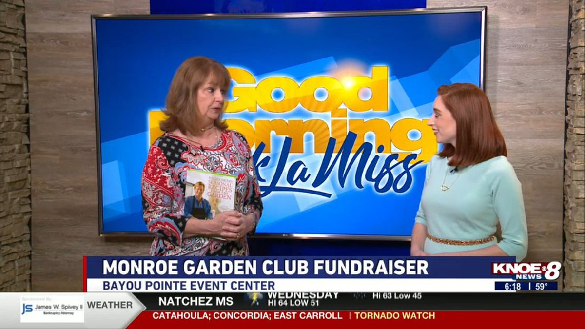Vicki Robinson, with Jessica Torricelli discussing the Monroe Garden Club fundraiser. (Source: KNOE)