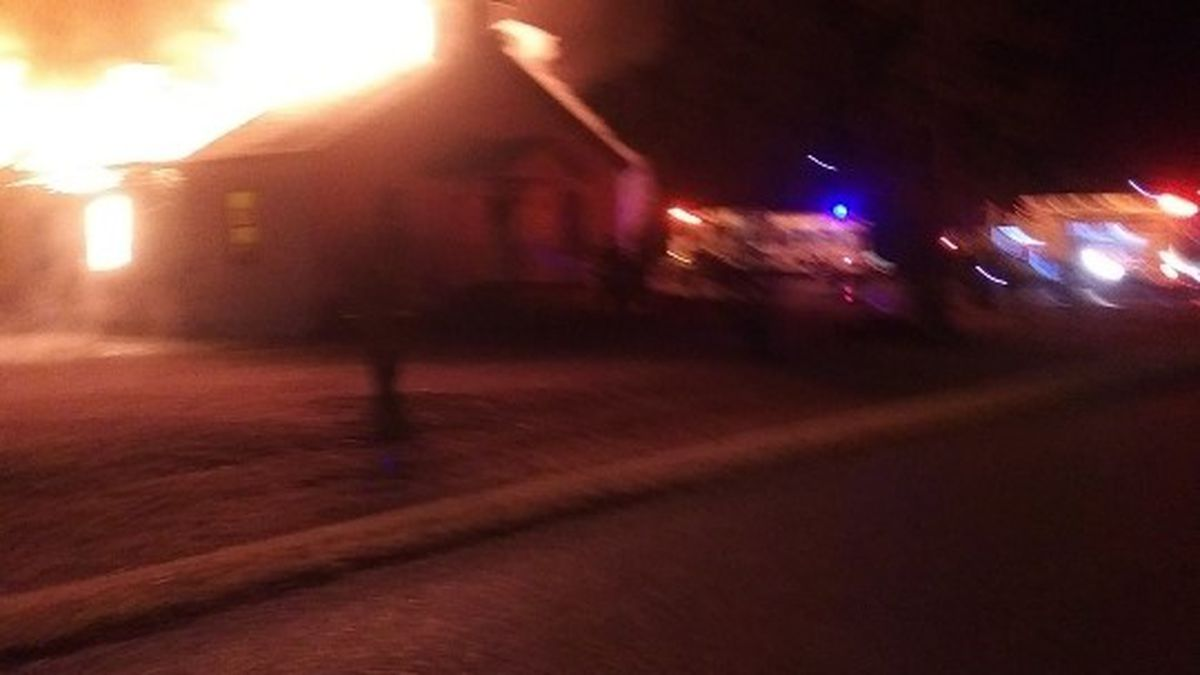 The China Grove Missionary Baptist Church caught on fire early Thursday morning. (Pastor Damian Wilson)