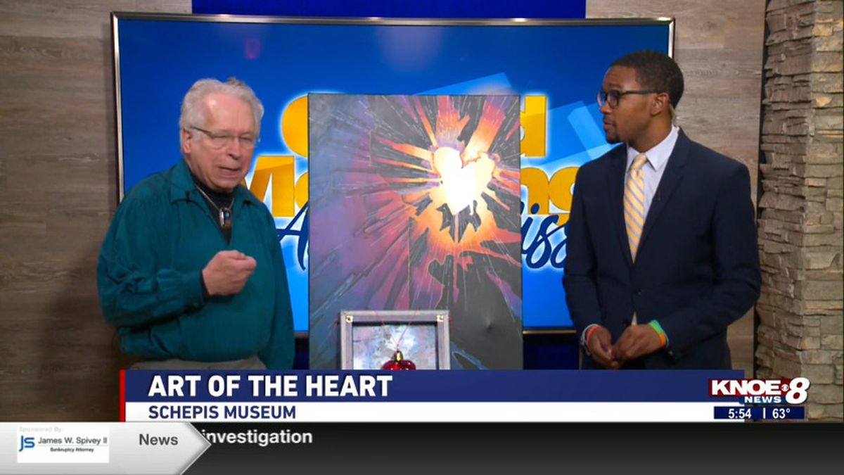 Artist M. Douglas Walton joined with Tyler Smith discussing the Art of Heart hosted by the Schepis Museum. Source: (KNOE)