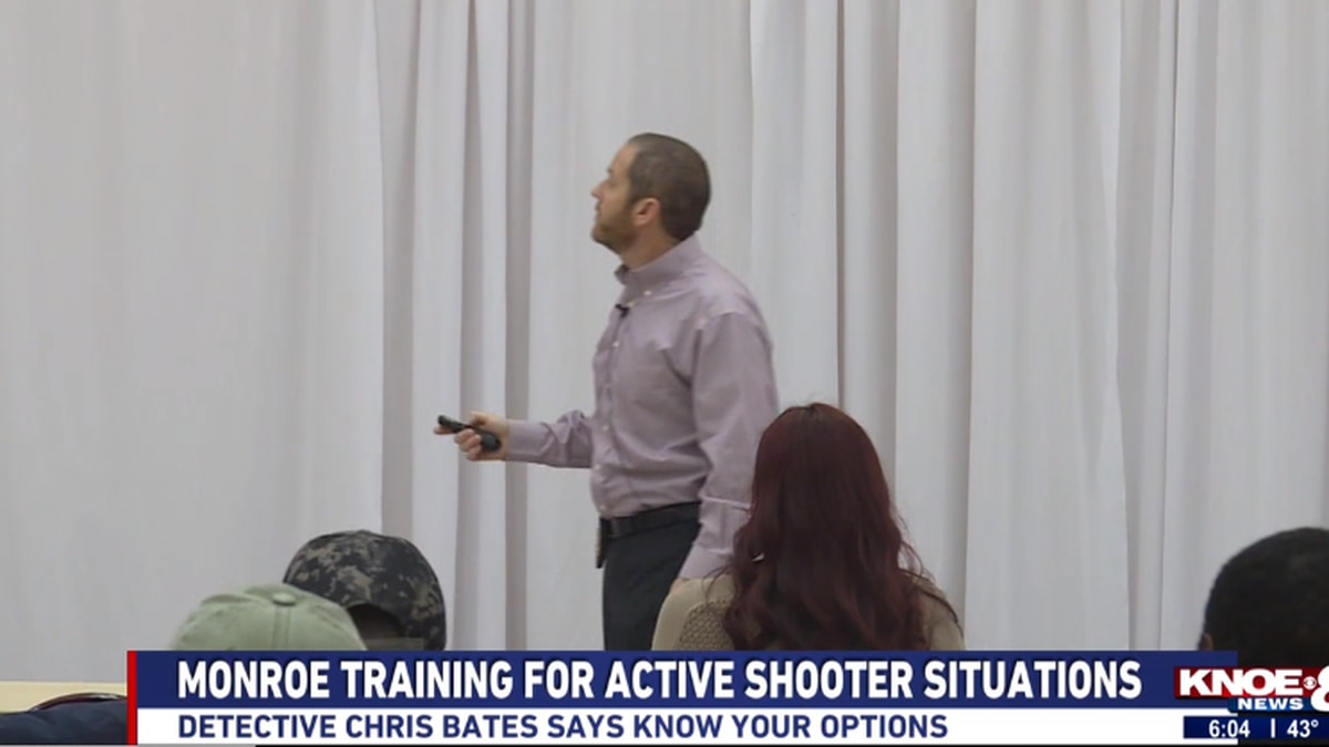 The Monroe Police Department held a seminar to teach city workers how to respond to an active shooter situation Tuesday morning. Source: (KNOE)