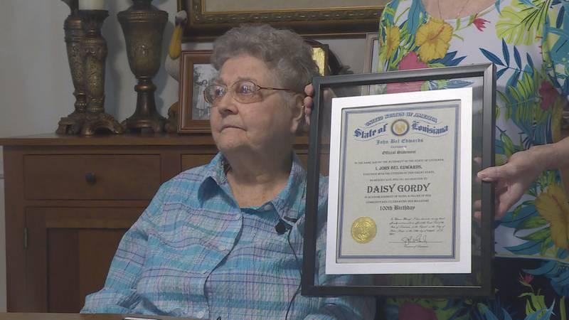 She celebrates her 100th birthday