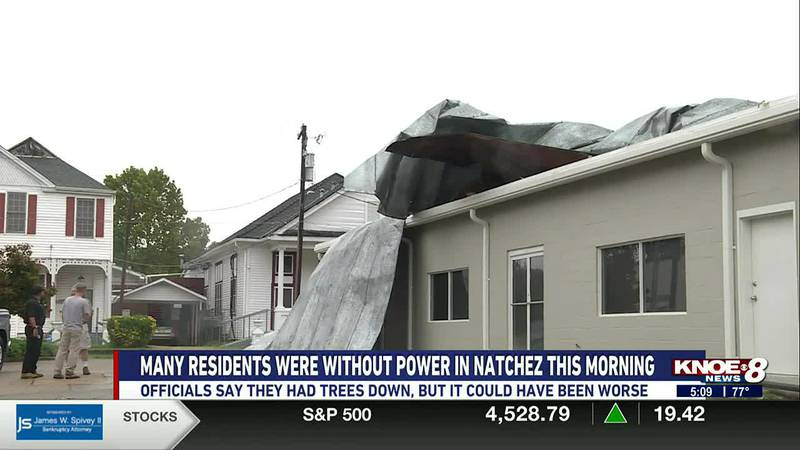 Ida moved through Natchez and Adams County Monday, Aug. 30th, leaving many people without power.