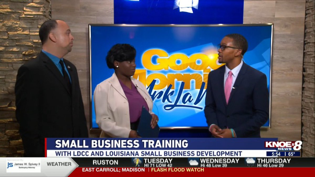 Senior Business Consultants Ryan  Piece and Christina Davis joined with Tyler Smith. Source:...